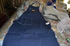 "Work Sport Denim Apron 1 Size Fits All 39"" X 27"" 2 Lg Pockets & 2 pencil slots"
