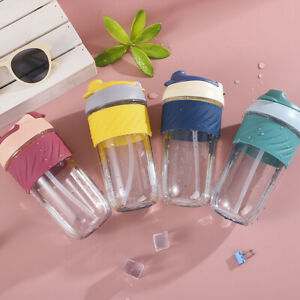 Portable Kids Water Bottle Tritan Water Bottle with Straw Spill and Leak Proof