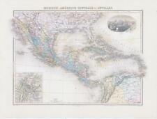 More details for 1892 map mexique amÉrique centrale antilles mexico america west indies (nai/59)