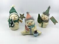 Bethany Lowe Designs: Christmas;  Little Snowmen by Michelle Allen; 3 Assorted