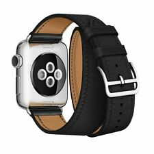 LEATHER DOUBLE TOUR REPLACEMENT BAND FOR FOR APPLE WATCH (SERIES 1 / 2 / 3 / 4)
