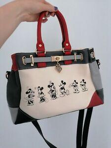 Authentic Bradford Exchange Disney Handbag Vintage 'Mickey & Minnie Love Story'