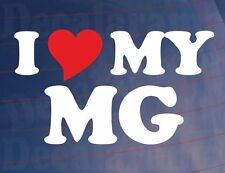 I LOVE/HEART MY MG Novelty Sports Car/Window/Bumper Vinyl Sticker/Decal