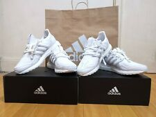 Adidas UltraBOOST Leather Shoes in Triple White