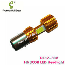 2x H6BA20D LED super white 36W COB car motorcycle headlight DC12-80V Hi/Lo beam