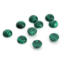10pcs/lot 6-12mm Natural Malachite Stone Cabochons Beads Flatback Domes Cameo