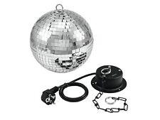 EUROLITE Spiegelkugel/Discokugel/Mirror Ball Set Partypaket mit Motor und Kette