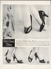 Vintage advertising print ad FASHION Red Cross Shoes Heels Twin Magic Jet sling