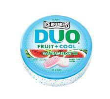 Ice Breakers Duo Fruit + Cool Watermelon Flavor Sugar Free Mints 8 1 3 Oz New