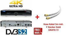 OCTAGON SF8008 4K UHD 2160p Multistream DVB-S2X + 5m Koax Kabel 135dB GRATIS