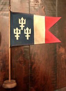 2 Burgees! Trident Past Power Squadron Commander Desk flag & Squadron Commander