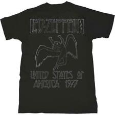 OFFICIAL LICENSED - LED ZEPPELIN - USA 1977 T SHIRT - ROCK PAGE PLANT