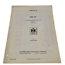 Vintage International Harvester 1008514r1 Air Compressor Replacement List Ih36