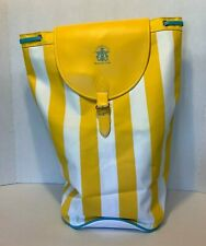 Vintage Giorgio Yellow Stripe Backpack Bucket Bag Beverly Hills