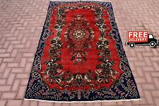 Vintage Turkish Oushak Hand Knotted Antique Home Decor Red Oriental Woolen Rugs