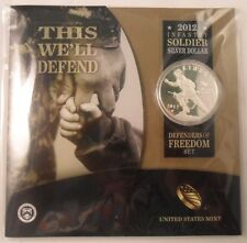 US Mint 2012-W Infantry Soldier Silver Dollar Defenders of Freedom Set ENN COINS