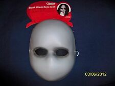 BLANK WHITE MASK BLACK EYES DOLL SCARY SPOOKY HALLOWEEN MASK COSTUME DG23927
