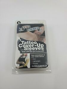Tatjacket Tattoo Cover Up Concealer 2 Sleeve, Full Arm coverage, Small, White