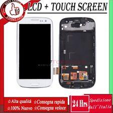 DISPLAY LCD PER SAMSUNG GALAXY S3 GT-i9300 i9305 TOUCH SCREEN  +TELAIO SCHERMO