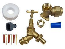 25mm MDPE Lockshield Outside Tap Kit with Double Check Valve and Removable Key
