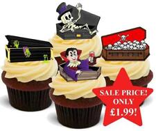 Halloween Coffin Mix Stand Up Premium Card Cake Toppers