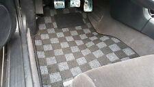 P2M Checkered Flag Race Carpet Floor Mats Silvia 240sx S14 LHD Dark Grey New