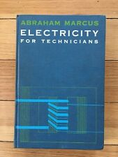 Electricity For Technicians Abraham Marcus 1968 Prentice-Hall Series Technology