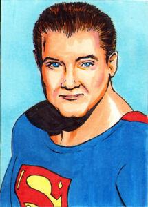SUPERMAN 5 Card SET SKETCH PRINTS
