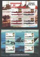 D1357 IMPERF 2011 SOMALIA WWII WORLD WAR II SUBMARINES GERMANY & USSR 2KB MNH