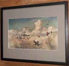 Closing Up by George Horace Davis, 20''x16'' frame, Biplane war scene wall art