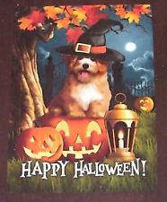 Indoor/Outdoor Decorative Flag - 12 X 18 Happy Halloween Doggie