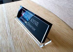 40cm x 15cm Desk Name Plaque, Custom Engraved Sign,Office manager