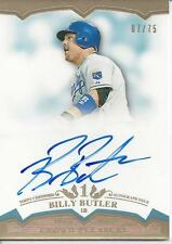 BILLY BUTLER AUTO ON CARD # 07/75!!! 2011 Topps Tier One # CP-BBU KC ROYALS!!!