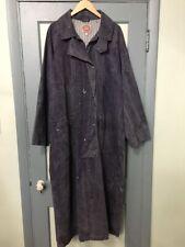 Vtg Australian Outback Cowboy Rain Duster Long Jacket Mens XL TG Denim Cape Coat