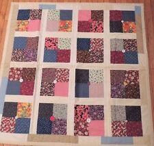 Quilt Throw Blanket Machine Stitched Patchwork Comforter