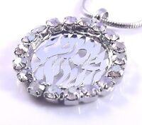 Shema Israel Judaica Necklace & Pendant Kabbalah Silver Stones Jewelry Hebrew