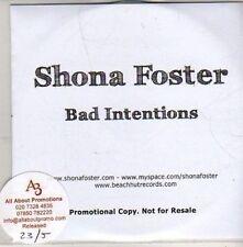 (CB957) Shona Foster, Bad Intentions - 2011 DJ CD