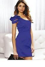 Lipsy One Shoulder Bodycon Occassion Party Dress Mini  6  Purple
