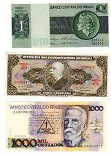 LOT SET SERIE 3 Billets BRESIL BRAZIL NEUF UNC