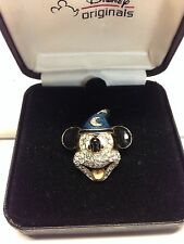 Disney Originals, SORCERER MICKEY MOUSE Fantasia Jeweled Brooch Pin