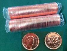 2012 Canada Pennies  2 Full Rolls  BU MS  Mint, Non-Mag
