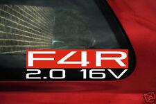 F4r 2.0 16v Adesivo. per RENAULT CLIO SPORT RS 172,182 (mk2) 197, 200 (mk3)