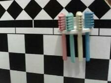 Dolls House Miniatures 1/12th Scale  Bathroom Toothbrushes and Rack D617