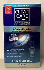Clear Care Plus Triple Action Cleanser Hydrogen Peroxide HydraGlyde 3 oz NEW