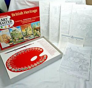 Waddingtons Art Master Painting by Numbers British Heritage 1987 Complete Vintag