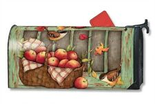 Screen Door Wreath Mail Box Wrap fall apples magnetic mailwrap mailbox cover