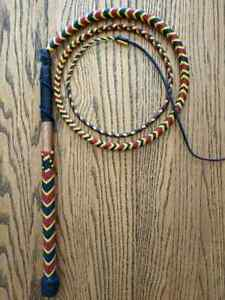 New 5 Ft. Stock Whip with Coral Snake Pattern