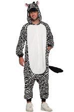 Zebra One Piece Adult Costume