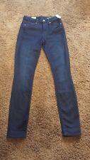 NEW GAP Womens 1969 High Rise Skinny Dark Wash Jeans 24r Stretch NWT