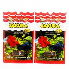 Sakura Fighting Betta Fish Food Gold Baby Floating Pellet Mosquito Larva 2 x 20g